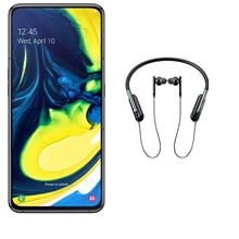 SAMSUNG Galaxy A80 LTE 128GB Dual SIM Mobile Phone with U Flex Wireless In-Ear Original Headphone